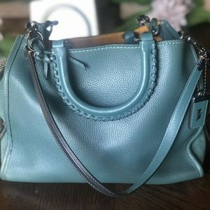 Beautiful COACH bag! Rogue Turquoise A+ condition